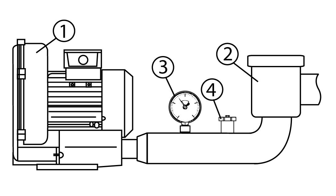 Pompa próżniowa schemat